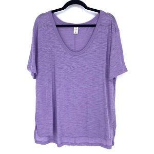 BP. X Claudia Sulewski U-neck Tee Shirt Lavender